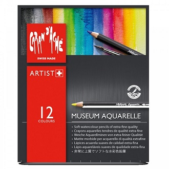 Caran d'Ache Aquarelle Museum Watercolor Pencils