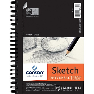 canson universal sketch paper pad