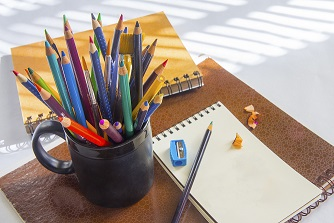 colored pencil paper