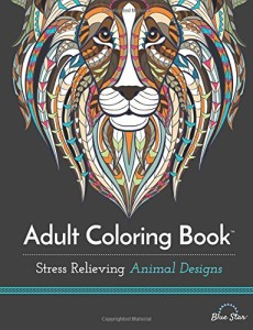 adult coloring books stress relieving animal design