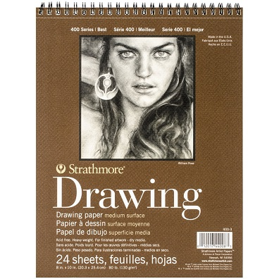 strathmore medium weight drawing paper pad