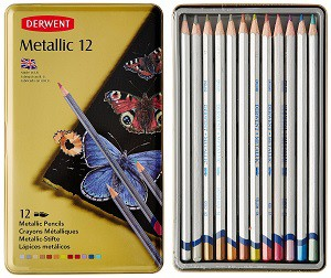 derwent metallic colored pencils