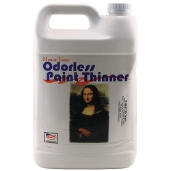 A typical bottle of paint thinner