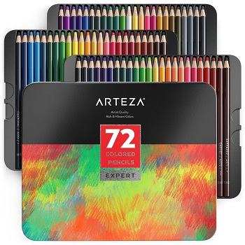 arteza professional colored pencil review