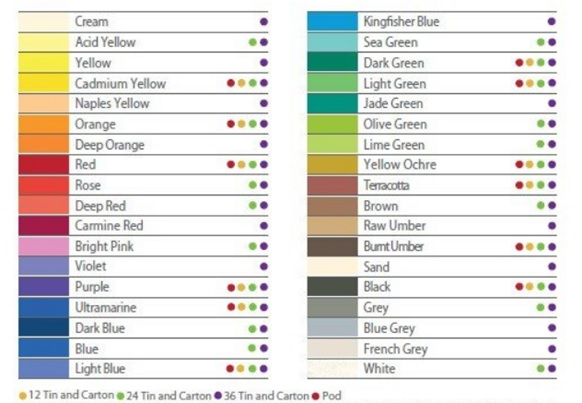 derwent academy watercolor pencil color choices