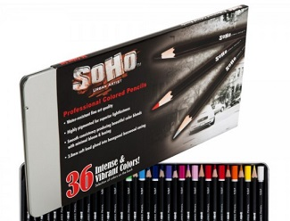 soho colored pencil packaging