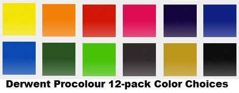 derwent procolour colored pencils 12 pack colors