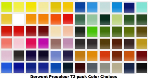 derwent procolour colored pencils 72 pack colors