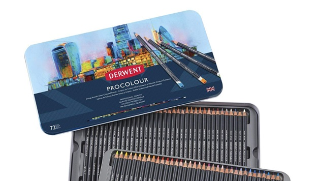 derwent procolour colored pencils packaging