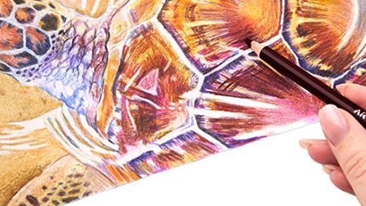 arteza colored pencil blending