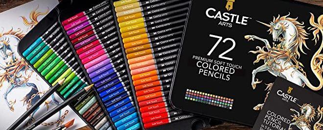 castle art supplies colored pencils set