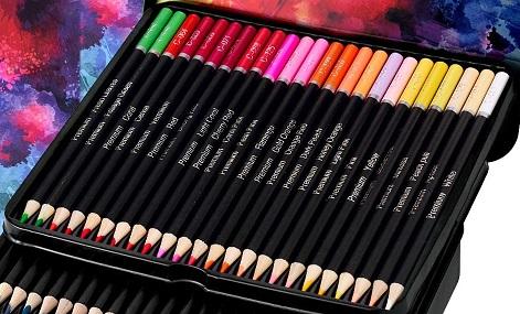 cool bank watercolor pencils case