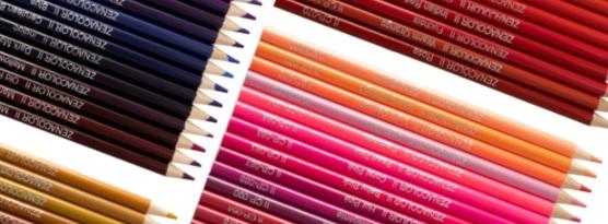 zenacolor colored pencils close up