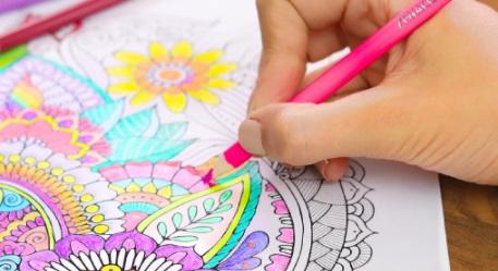 zenacolor colored pencils coloring in