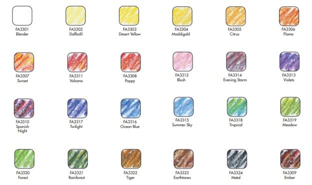 koh-i-noor tri-tone colored pencil colors