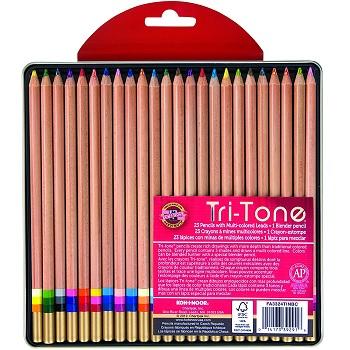 koh-i-noor tri-tone colored pencil review