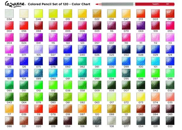 cezanne colored pencils color choices